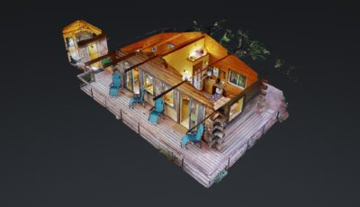 The Daybreeze Cabin at Stillpoint Lodge 3D Model